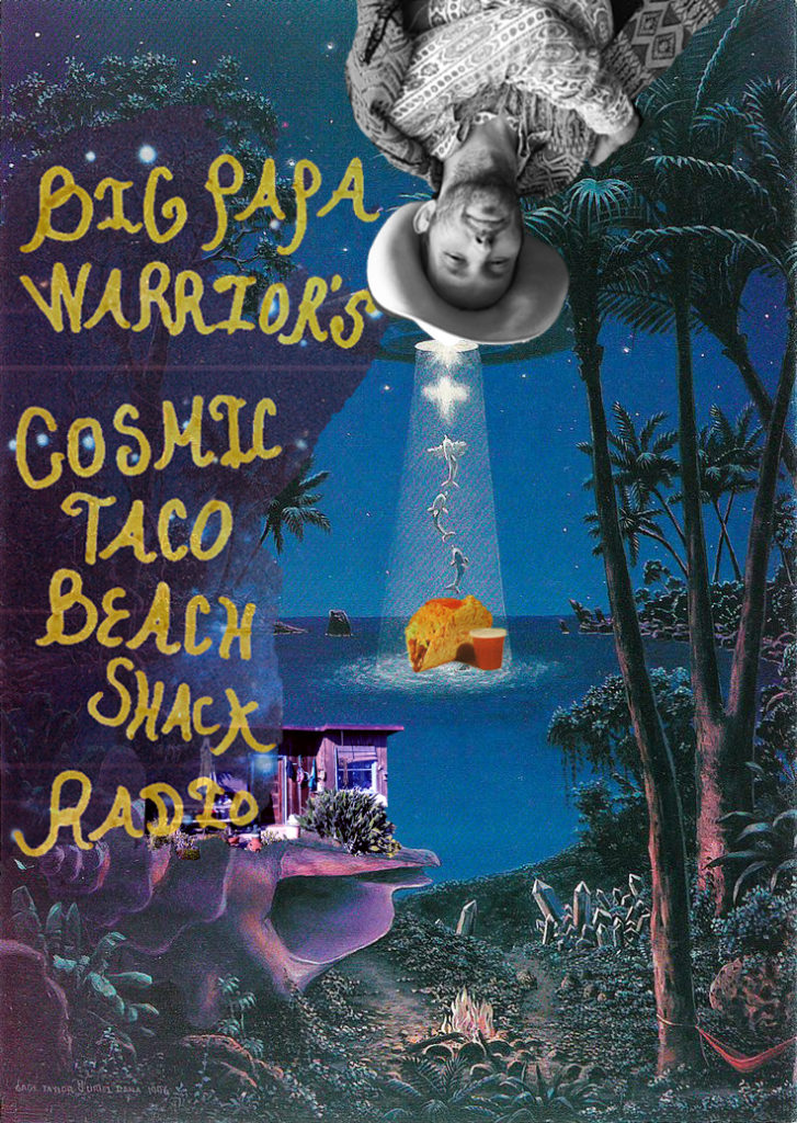 cosmic taco beach shack radio poster