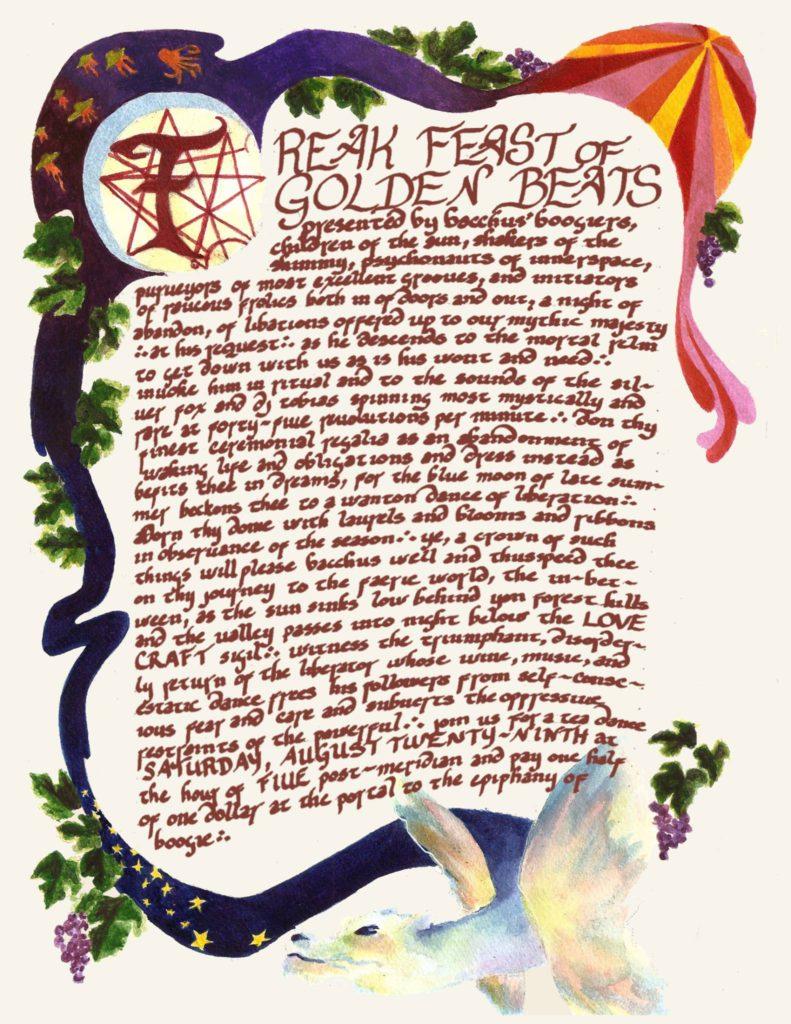 Freak Feast of Golden Beats Manuscript